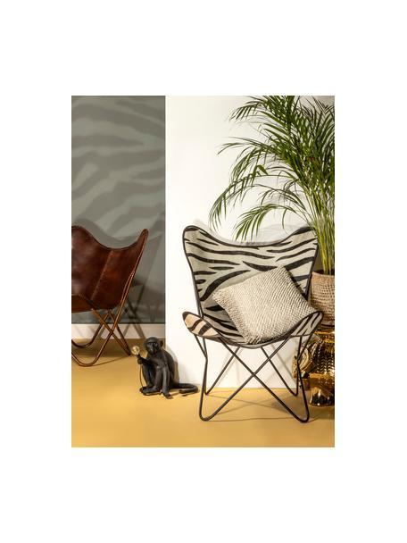 Outdoor tafellamp Monkey met stekker, Lamp: kunsthars, Zwart, 34 x 32 cm