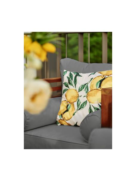 Poszewka na poduszkę Citrus, Bawełna, Żółty, zielony, biały, S 40 x D 40 cm