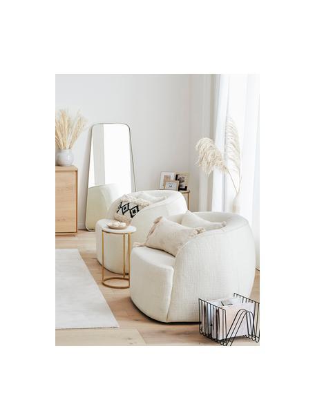 Fotel koktajlowy bouclé Elodie, Tapicerka: bouclé (70% poliester, 20, Nogi: tworzywo sztuczne, Kremowobiały bouclé, S 86 x G 62 cm