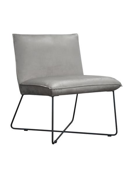 Krzesło tapicerowane z aksamitu Victor, Tapicerka: aksamit (100% poliester), Stelaż: drewno naturalne, Nogi: metal, Aksamitny szary, nogi: czarny, S 75 x G 75 cm