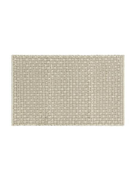 Tappeto bagno morbido strutturato grigio verde Panama, 60% poliestere, 40% cotone, Verde grigio, Larg. 50 x Lung. 80 cm