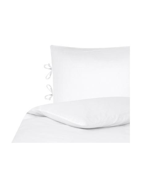 Pościel z lnu Indica, 52% len, 48% bawełna Z efektem sprania, Biały, 135 x 200 cm + 1 poduszka 80 x 80 cm