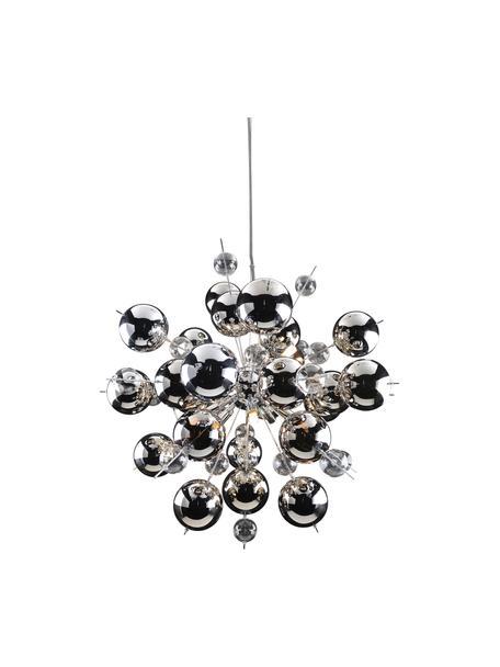 Lampa wisząca ze szklanych kulek Explosion, Chrom, Ø 65 cm