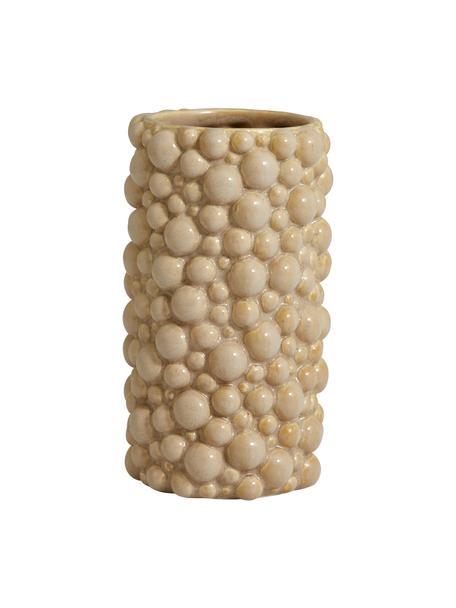 Jarrón de cerámica Naxos, Cerámica, Beige, Ø 9 x Al 20 cm