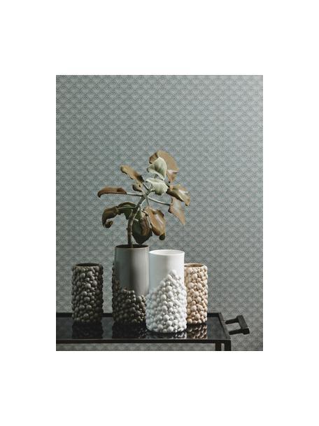 Vaso di design in ceramica Naxos, Ceramica, Beige, Ø 9 x Alt. 20 cm