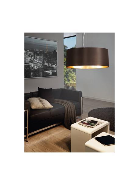 Lámpara de techo Jamie, Fijación: metal niquelado, Cable: plástico, Plateado, negro, Ø 53 x Al 24 cm
