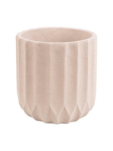 Übertopf  Stripes aus Keramik, Keramik, Beige, Ø 18 x H 18 cm