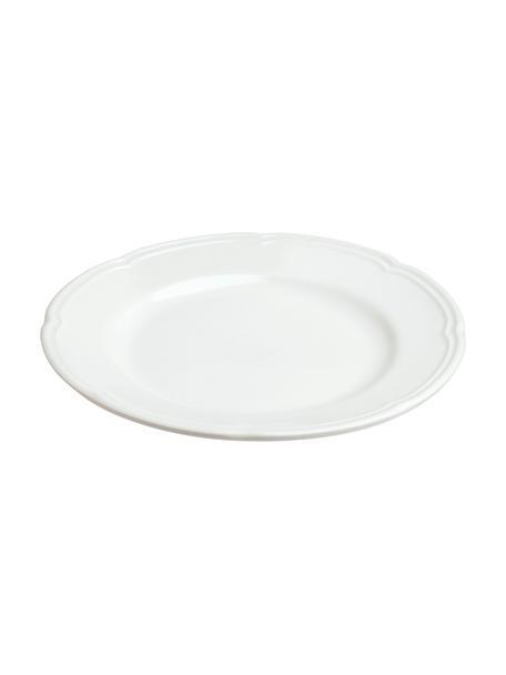 Ontbijtbord Ouverture van porselein, 6 stuks, Porselein, Wit, Ø 19 cm