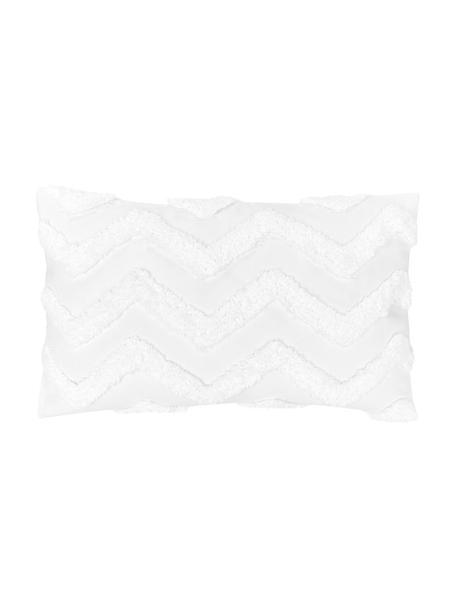 Kussenhoes Zack met getuft patroon, 100% katoen, Wit, 30 x 50 cm
