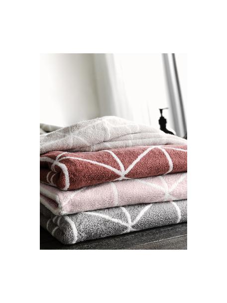 Dubbelzijdige handdoekenset Elina, 3-delig, 100% katoen, middelzware kwaliteit, 550 g/m², Roze, crèmewit, Set met verschillende formaten