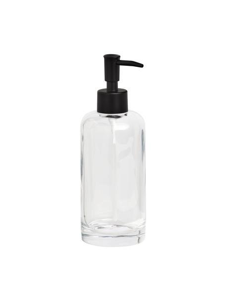 Dosatore di sapone in vetro Clear, Contenitore: vetro, Testa della pompa: metallo, Trasparente, Ø 7 x Alt. 20 cm