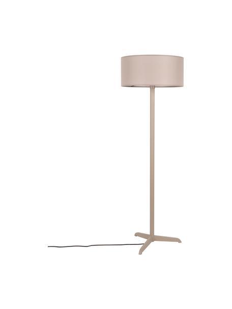 Lampada da terra beige Shelby, Paralume: 80% lino, 20% cotone, Base della lampada: metallo rivestito, Beige, Ø 50 x Alt. 155 cm