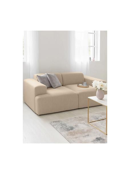 Sofa Melva (2-Sitzer) in Dunkelbeige, Bezug: 100% Polyester Der hochwe, Gestell: Massives Kiefernholz, FSC, Webstoff Dunkelbeige, B 198 x T 101 cm