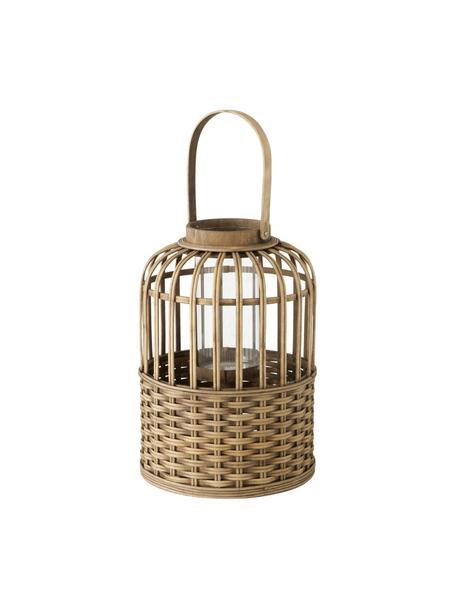 Bamboehouten windlicht Morea, Windlicht: bamboehout, Bruin, Ø 25 x H 38 cm