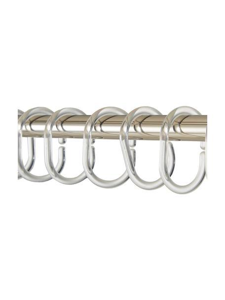 Pierścienie do zasłony prysznicowej Crystal, 12 szt., Tworzywo sztuczne, Transparentny, 7 cm
