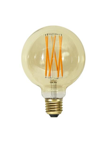 E27 Leuchtmittel, 240lm, dimmbar, warmweiß, 1 Stück, Leuchtmittelschirm: Glas, Leuchtmittelfassung: Aluminium, Bernsteinfarben, transparent, Ø 10 x H 14 cm