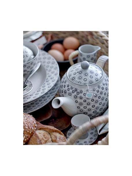 Soportes de huevo de gres Elsa, 4uds., Gres, Gris, crema, Ø 8 x Al 7 cm