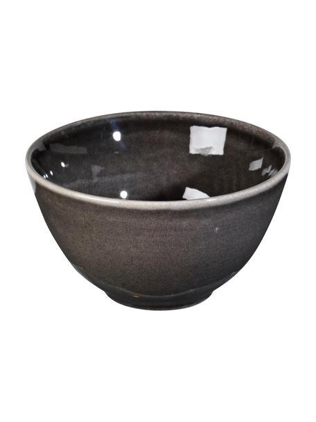 Ciotola in gres fatta a mano Nordic Coal 4 pz, Ø15 cm, Gres, Brunastro, Ø 15 x Alt. 8 cm