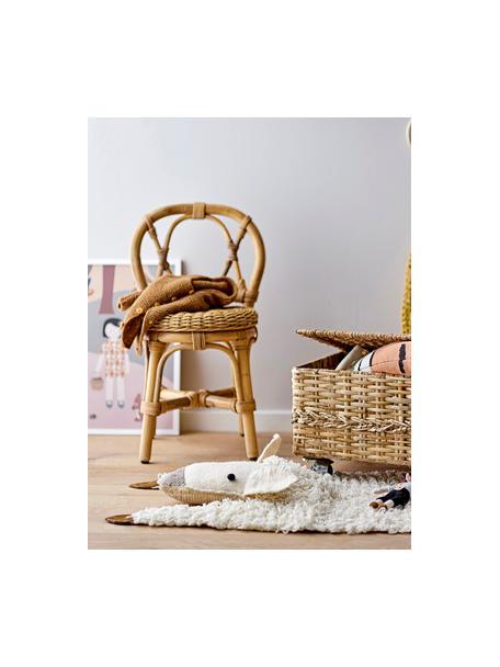 Tappeto in lana Becky, Rivestimento: 100% lana, Bianco crema, marrone, grigio, Larg. 45 x Lung. 45 cm