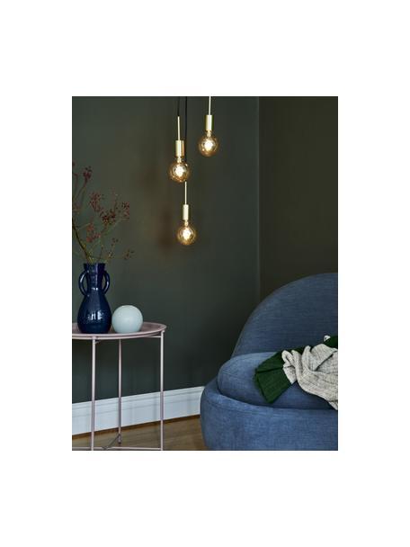 Hanglamp Paco, Fitting: metaal, Baldakijn: metaal, Messingkleurig, Ø 18 x H 17 cm