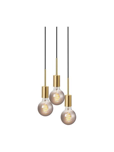 Lámpara de techo cluster pequeña Paco, Anclaje: metal, Cable: plástico, Latón, Ø 18 x Al 17 cm