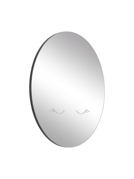 Specchio rotondo da parete con cornice nera Ludmila, Cornice: pannello di fibra a media, Superficie dello specchio: vetro a specchio temprato, Retro: pannello di fibra a media, Grigio, nero, Ø 50 cm