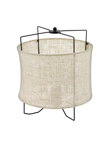 Tafellamp Bridekirk van linnen, Lampenkap: linnen, Beige, Ø 30 x H 34 cm