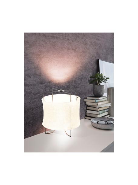 Lámpara de mesa de lino Bridekirk, Pantalla: lino, Estructura: metal pintado, Cable: plástico, Beige, Ø 30 x Al 34 cm