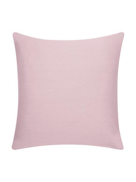 Katoenen kussenhoes Mads in roze, 100% katoen, Roze, 50 x 50 cm