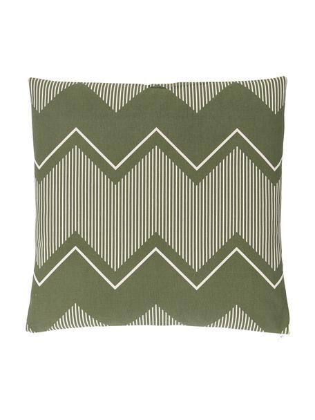 Poszewka na poduszkę w stylu boho Indy, 100% bawełna, Oliwkowy zielony, S 45 x D 45 cm