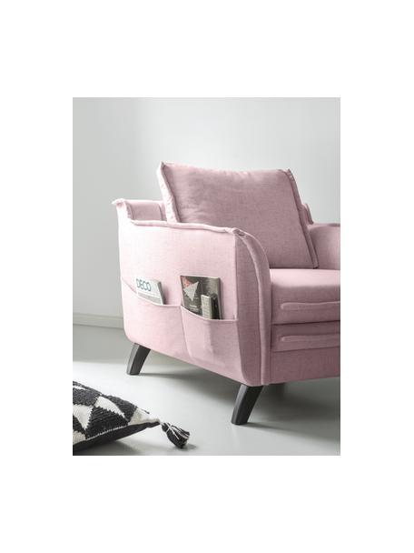 Fotel Charming Charlie, Tapicerka: 100% poliester, w dotyku , Stelaż: drewno naturalne, płyta w, Brudny różowy, S 85 x G 85 cm