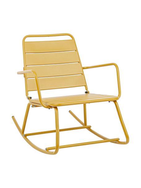 Outdoor schommelstoel Lillian in geel, Gepoedercoat staal, Okergeel, 63 x 74 cm