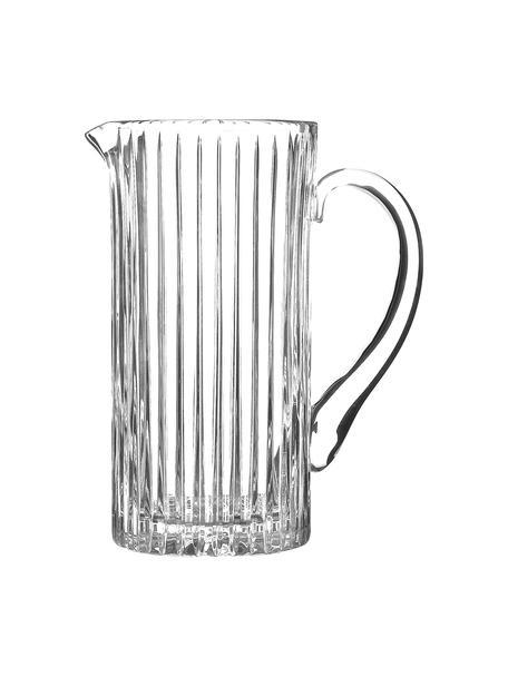 Kristall-Krug Timeless mit Rillenrelief, 1.2 L, Luxion-Kristallglas, Transparent, H 23 cm