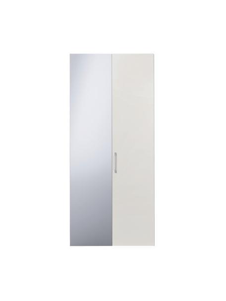 Kledingkast Madison met spiegeldeur in wit, Frame: panelen op houtbasis, gel, Wit, 102 x 230 cm