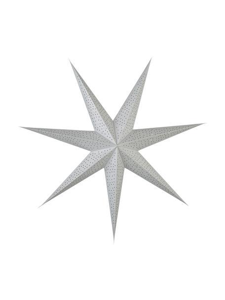 Papier-Stern Icilinia mit Möglichkeit zur Beleuchtung Ø 80 cm, Papier, Silberfarben, 80 x 80 cm
