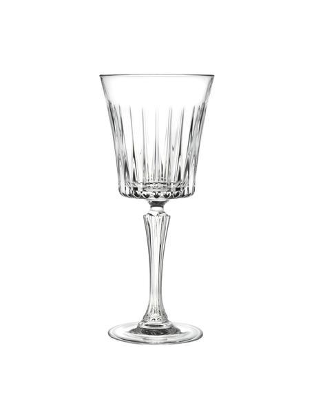 Kristallen witte wijnglazen Timeless met groefreliëf, 6 stuks, Luxion kristalglas, Transparant, Ø 8 x H 20 cm