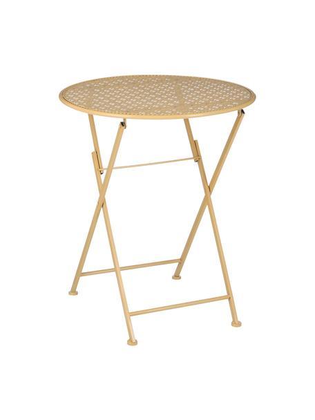 Tavolo pieghevole da balcone Ninet, Metallo rivestito, Giallo, Ø 60 x Alt. 70 cm