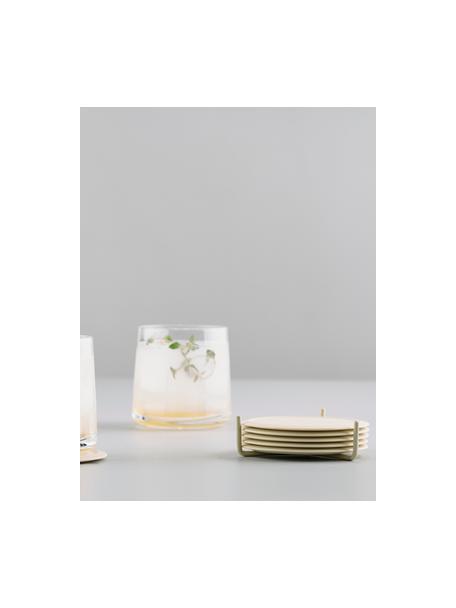 Posavasos de silocona Plain, 6uds., Blanco crudo, Ø 10 cm
