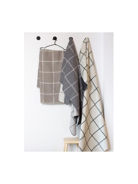 Manta de franela Silvretta, 85%algodón, 8%viscosa, 7%poliacrílico, Blanco natural, negro, An 140 x L 200 cm