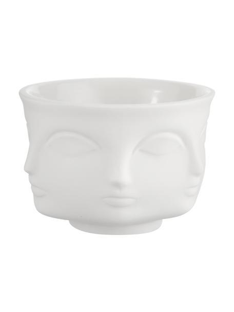 Kleines Designer-Dipschälchen Muse, Porzellan, Weiss, Ø 7 cm