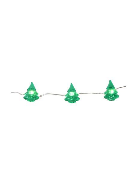 Guirnalda de luces LED Christmas Tree, 220cm, Alambre de metal, vidrio acrílico, metal, plástico, Verde, L 220 cm
