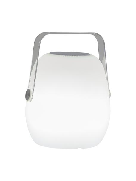 Mobilna lampa zewnętrzna z głośnikiem i funkcją zmiany koloru Voice, Biały, S 18 x W 23 cm