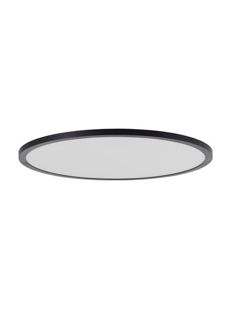 Dimbare LED paneel Tuco met kleurverandering en afstandsbediening, Lampenkap: kunststof, Diffuser: kunststof, Zwart/wit, Ø 50 x H 3 cm