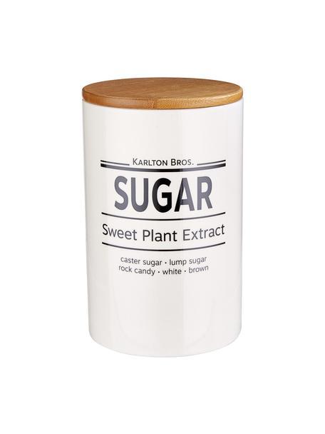 Aufbewahrungsdose Karlton Bros. Sugar, Ø 11 x H 18 cm, Porzellan, Weiss, Schwarz, Braun, Ø 11 x H 18 cm