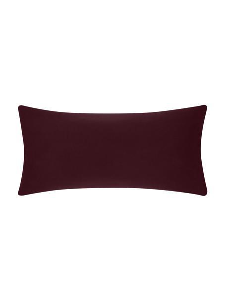 Poszewka na poduszkę z flaneli Biba, 2 szt., Ciemny czerwony, S 40 x D 80 cm
