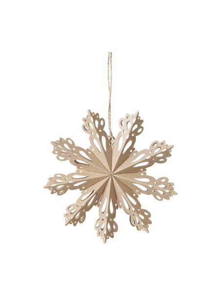 Ciondolo a fiocco di neve Snowflake 2 pz, Ø15 cm, Carta, Beige, Ø 15 cm