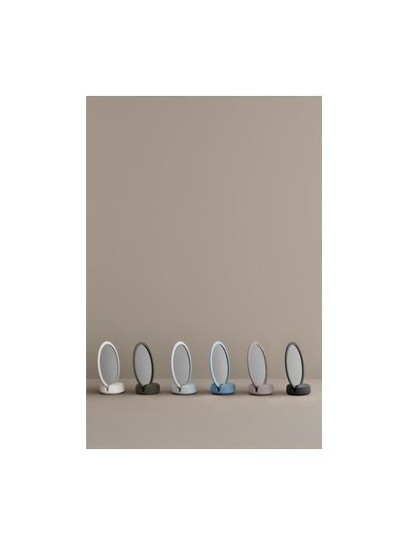 Specchio cosmetico con ingrandimento Sono, Superficie dello specchio: lastra di vetro, Cornice: ceramica, Bianco, Larg. 17 x Alt. 19 cm