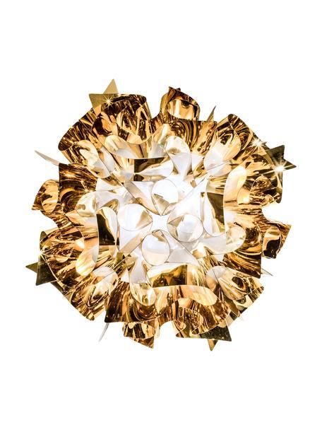 Design wand- en plafondlamp Veli van kunststof, Lampenkap: Technoplymeer Goldflex®, , Goudkleurig, Ø 53 x H 20 cm