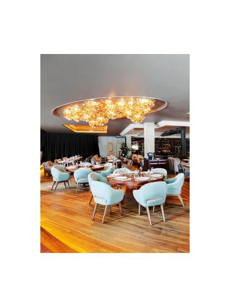 Design Plafondlamp Veli van kunststof, Lampenkap: Technoplymeer Goldflex®, , Goudkleurig, Ø 53 x H 20 cm