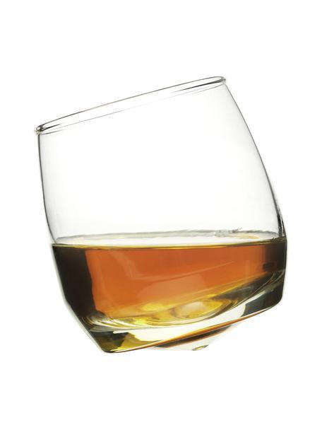 Bicchiere da whisky Rocking 6 pz, Vetro soffiato a mano, Trasparente, Ø 7 x Alt. 9 cm